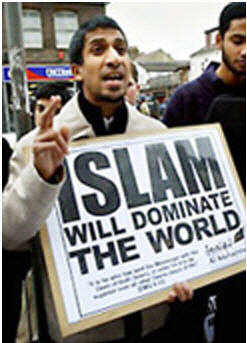 """Muslim showing his love for the """"Alliance of Civilizations"""""""