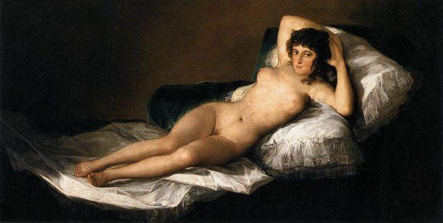 """Goya's """"Maja Desnuda"""" (Naked Maja)"""
