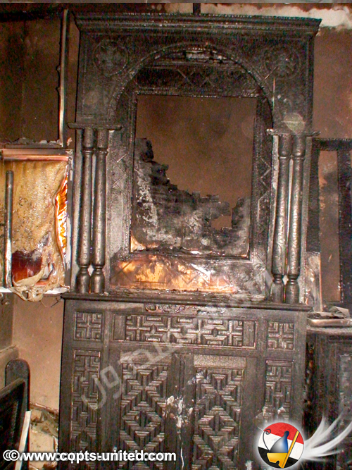 """The police decided before any forensics were carried out that the cause of the fire was caused by a short-circuit,"" said an unofficial Church source. ""This cannot be true, as the electricity was shut off as usual before locking the Church and the panel boards are intact as the photos show.""  Sherif Ramzy of Free Copts said that Coptic witnesses told him that while the fire was burning, Muslim neighbors were elated. To portray their happiness, Muslim women were letting out the traditional celebration sound ""zaghroota."""