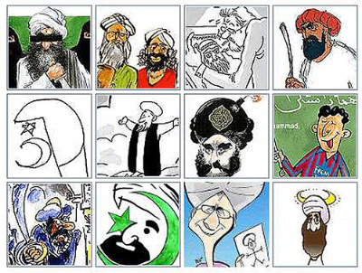 12 Mohammed Cartoons published originally by Danish newspaper Jyllands-Posten