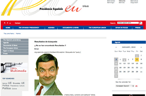 Hackers broke web security and Mr Bean appeared on the official webpage
