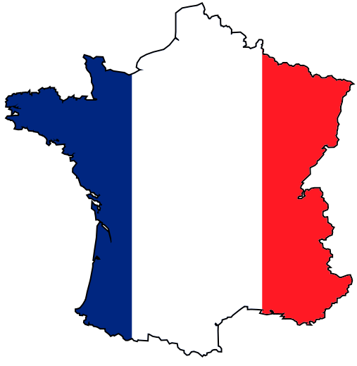 507px france flag map svg FRANCE